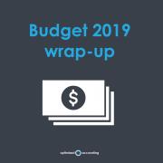 Optimised budget wrap-up 2019
