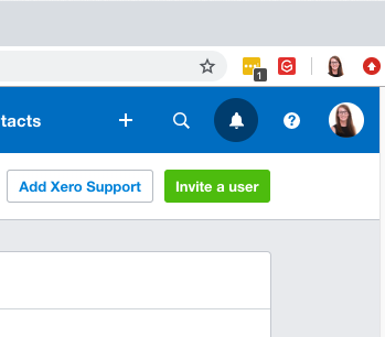 Invite a user into Xero