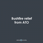 bushfire relief from ATO