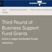 3rd round of business support fund grants