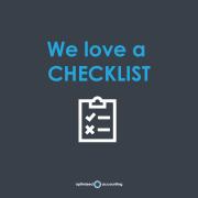 We love a checklist